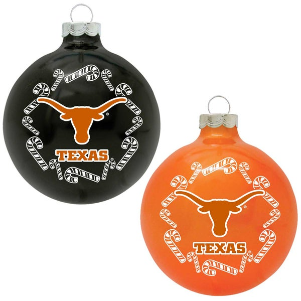 NCAA Texas Longhorns Home and Away Glass Ornaments