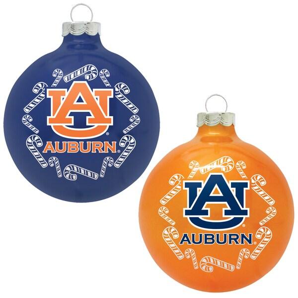 NCAA Auburn Tigers Home and Away Glass Ornaments