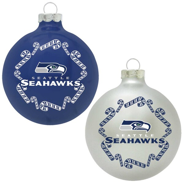 NFL Seattle Seahawks Home and Away Glass Ornaments