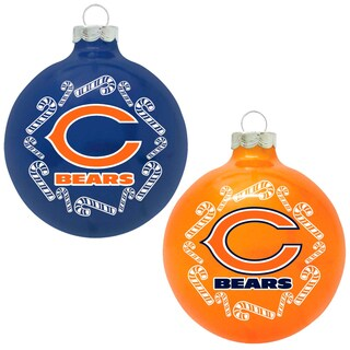 NFL Chicago Bears Home and Away Glass Ornaments