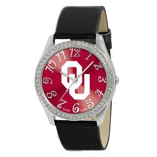 Oklahoma Sooners Women's Glitz Patent Leather Watch