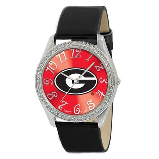 Game Time NCAA Georgia Bulldogs Women's Glitz Patent Leather Watch