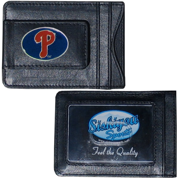 Philadelphia Phillies Leather Money Clip and Cardholder
