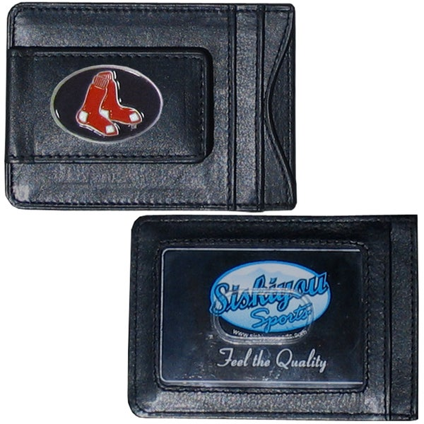 MLB Boston Red Sox Leather Money Clip and Cardholder