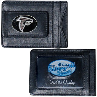 NFL Atlanta Falcons Leather Money Clip and Cardholder