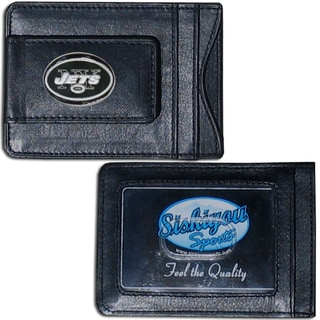 NFL New York Jets Leather Money Clip and Cardholder