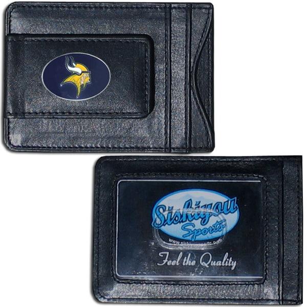 NFL Minnesota Vikings Leather Money Clip and Cardholder