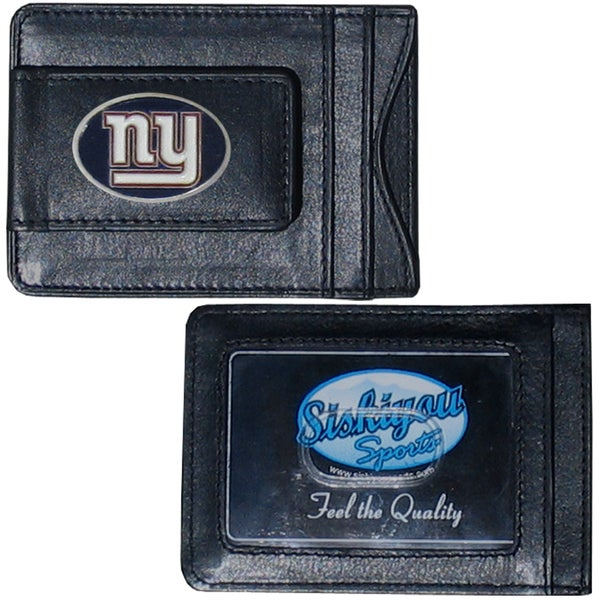 NFL New York Giants Leather Money Clip and Cardholder