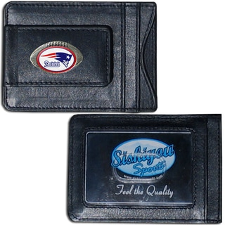 NFL New England Patriots Leather Money Clip and Cardholder