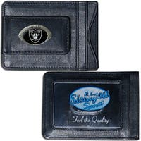 NFL Oakland Raiders Leather Money Clip and Cardholder