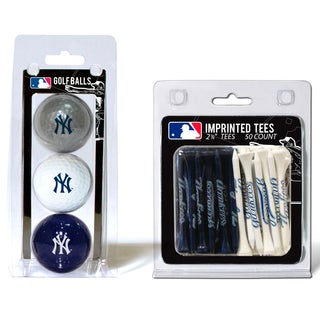 MLB New York Yankees Golf Ball and Tee Set