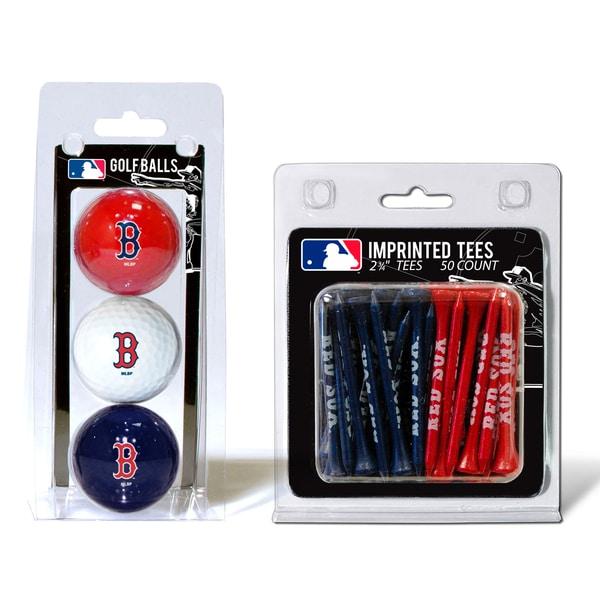MLB Boston Red Sox Golf Ball and Tee Set