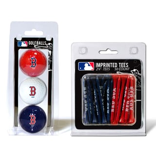 MLB Boston Red Sox Golf Ball and Tee Set
