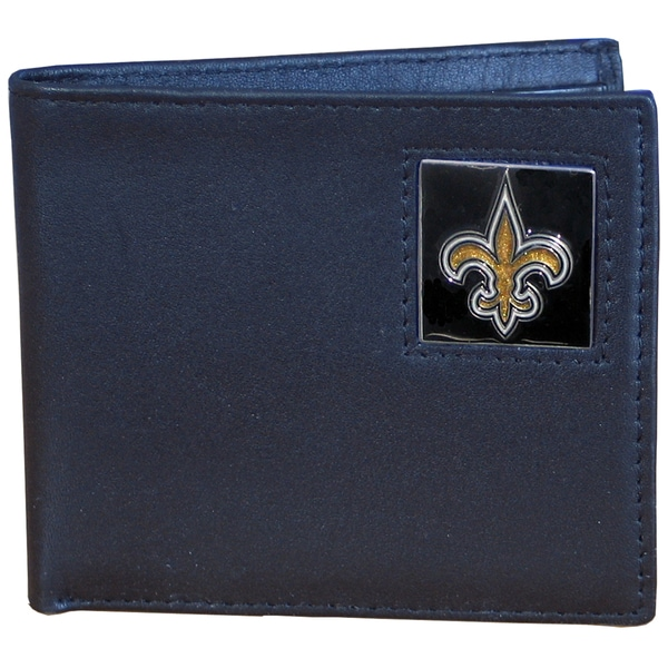 NFL New Orleans Saints Leather Bi-fold Wallet