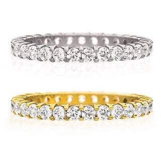 Amore 14K Gold 1ct TDW Machine-set Shared Prong Diamond Eternity Band