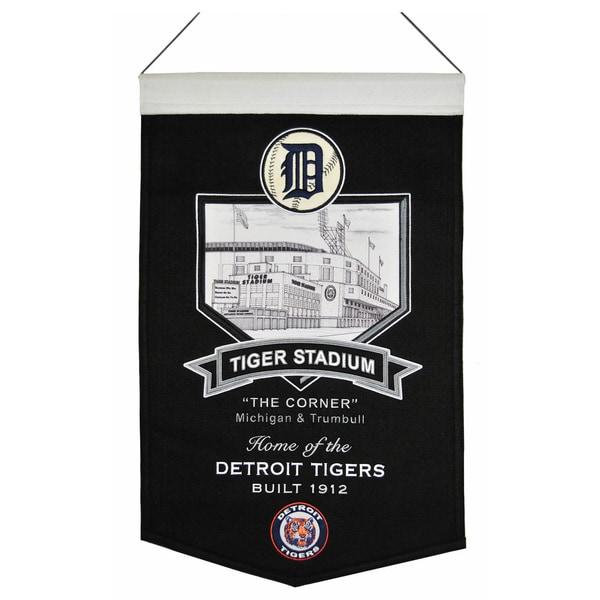 MLB Detroit Tigers Tiger Stadium Wool Banner