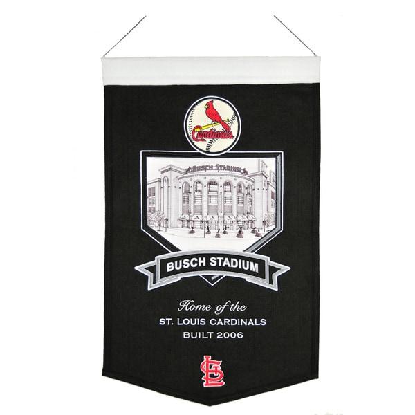 MLB St. Louis Cardinals Busch Stadium Wool Banner