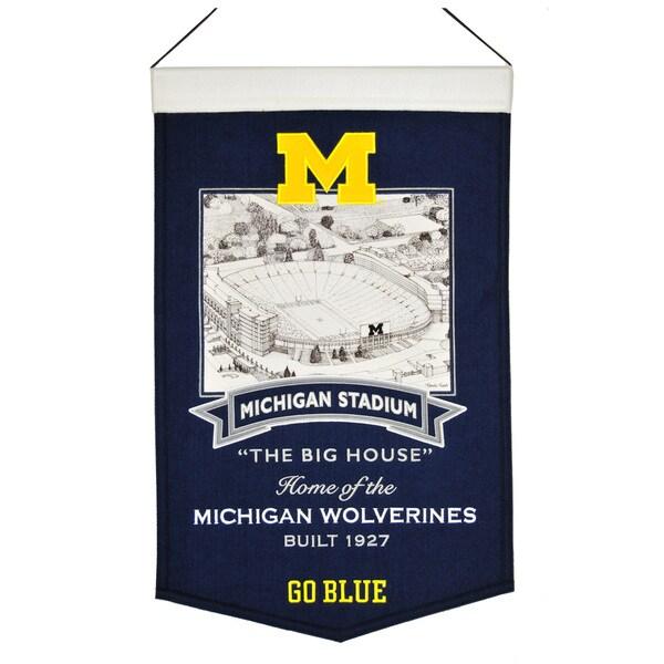 NCAA Michigan Wolverines Wool Stadium Banner