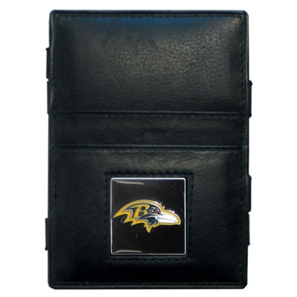 NFL Baltimore Ravens Leather Jacob's Ladder Wallet