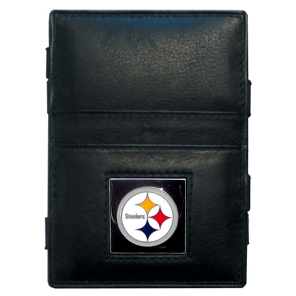 NFL Pittsburgh Steelers Leather Jacob's Ladder Wallet