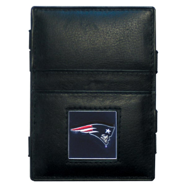 NFL New England Patriots Leather Jacob's Ladder Wallet