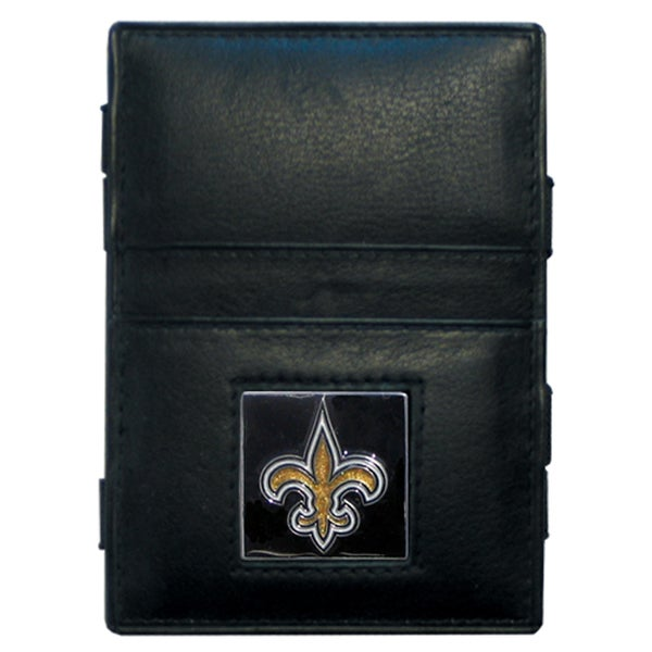 NFL New Orleans Saints Leather Jacob's Ladder Wallet