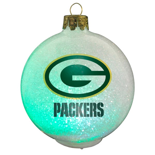 NFL Green Bay Packers Color Changing LED Ornament