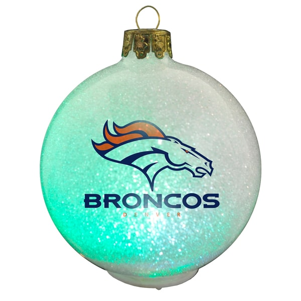 NFL Denver Broncos Color Changing LED Ornament