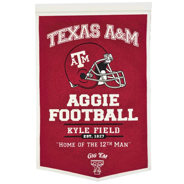 NCAA Texas AM Aggies Wool Powerhouse Banner