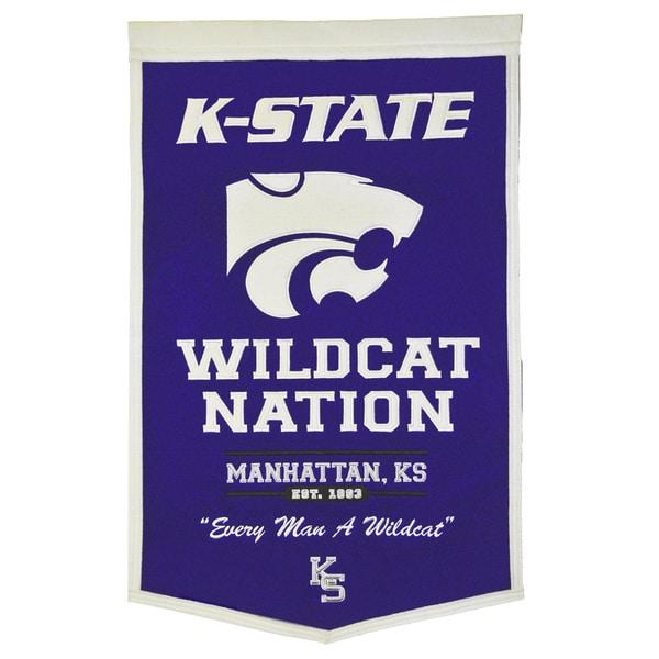 NCAA Kansas State Wildcats Wool Powerhouse Banner