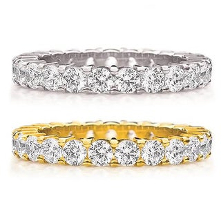 Amore 14k White/Yellow Gold 2ct TDW Diamond Wedding Band