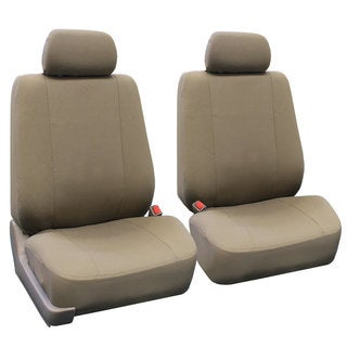 FH Group Taupe Airbag Compatible Front Bucket Covers (Set of 2)