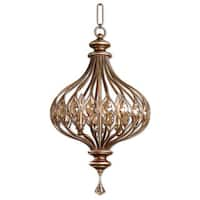 Uttermost Sabina 3-light Burnished Gold Pendant