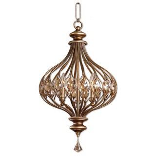Uttermost Sabina 3-light Burnished Gold Pendant
