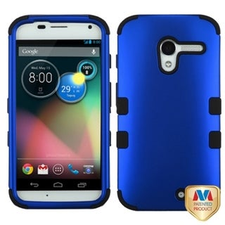 INSTEN Titanium Dark Blue/ Black TUFF Hybrid Phone Case Cover for Motorola Moto X