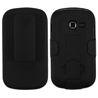 INSTEN Black Hybrid Holster with Stand for Samsung Galaxy Centura