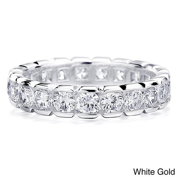 Amore 14K Gold 2ct TDW Round Diamond Eternity Wedding Band (H-I, I1-I2)