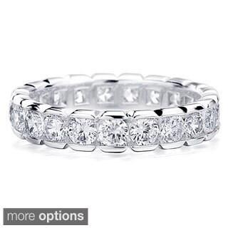 Amore 14K Gold 2ct TDW Round Diamond Eternity Wedding Band
