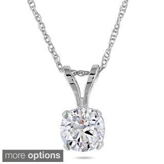 Miadora Signature Collection 14k Gold 1ct TDW Diamond Solitaire Necklace