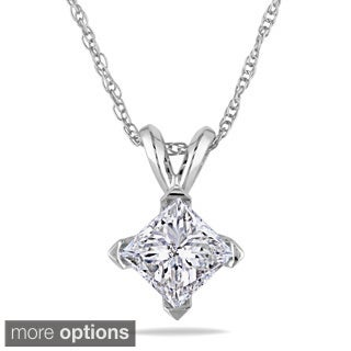 Miadora Signature Collection 14k Gold 1ct TDW Diamond Solitaire Necklace (J-K, I2-I3)