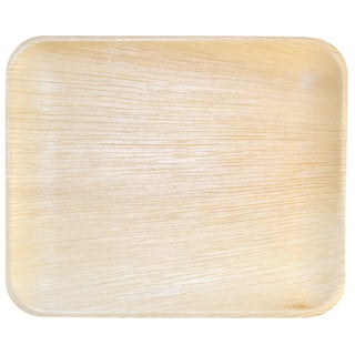 Handmade Leaf & Fiber Compostable Palm Leaf Plates (Pack of 100) (India)