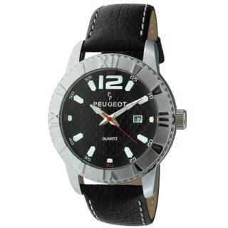 Peugeot Men's '2037S' Black Leather Sport Bezel Watch|https://ak1.ostkcdn.com/images/products/8555265/Peugeot-Mens-2037S-Black-Leather-Sport-Bezel-Watch-P15832787.jpg?impolicy=medium