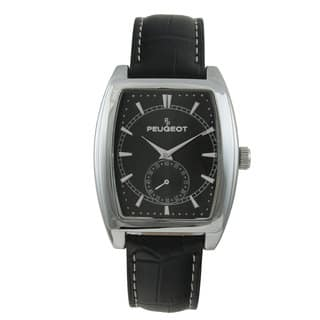 Peugeot Men's 2027BK Black Leather Strap Sweep Dial Watch|https://ak1.ostkcdn.com/images/products/8555272/Peugeot-Mens-2027BK-Black-Leather-Strap-Sweep-Dial-Watch-P15832798.jpg?impolicy=medium