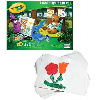 Crayola Giant Fingerpaint Paper Pad|https://ak1.ostkcdn.com/images/products/8555291/Crayola-Giant-Fingerpaint-Paper-Pad-P15832813.jpg?impolicy=medium