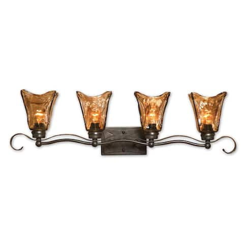 Uttermost Vetraio 4-light Oil Rubbed Bronze Vanity Strip