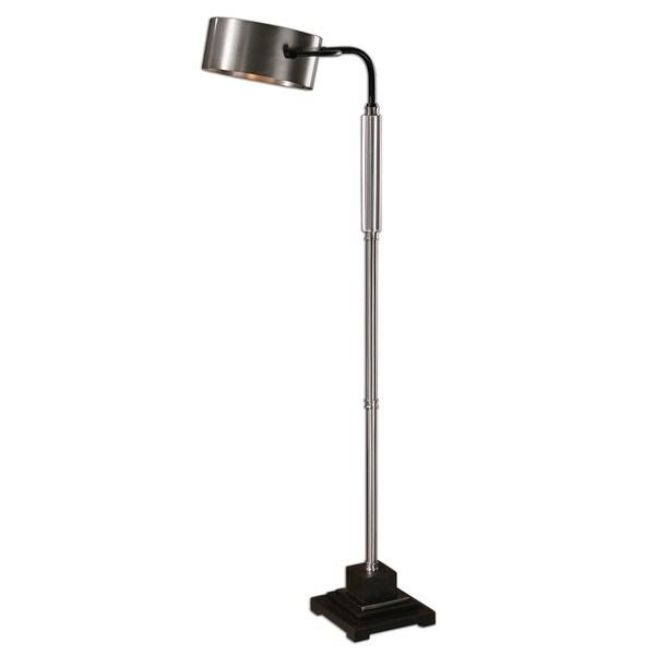 Uttermost Belding Modern 1-light Brushed Aluminum Floor Lamp
