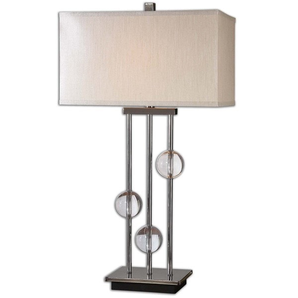 Uttermost Rodeshia 1-light Black Chrome Table Lamp