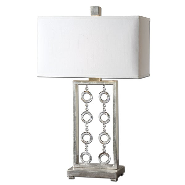 Antique Silver Table Lamp 24 Cream Accent Lighting: Shop Uttermost Arlena 1-light Antique Silver Leaf Table