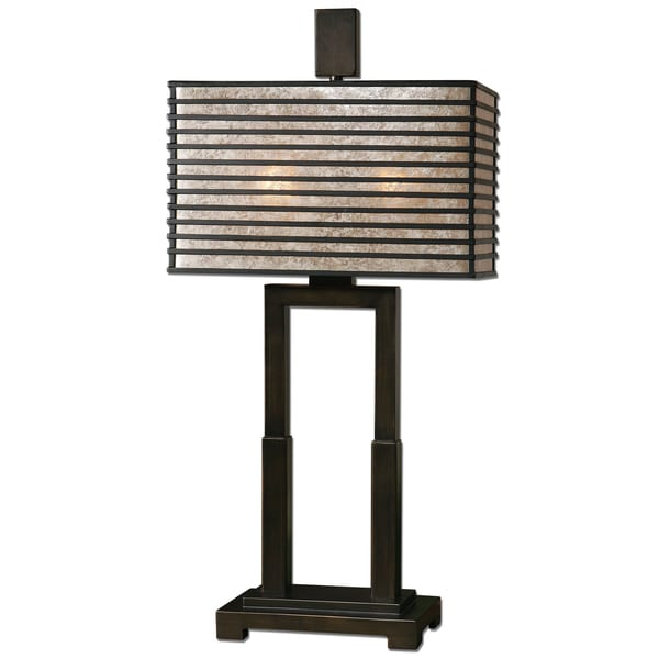 Uttermost Becton 2-light Oil Rubbed Bronze Table Lamp