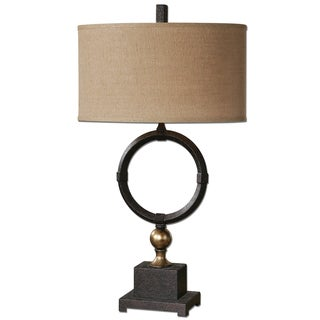 Uttermost Pueblo 1-light Rust Black Table Lamp